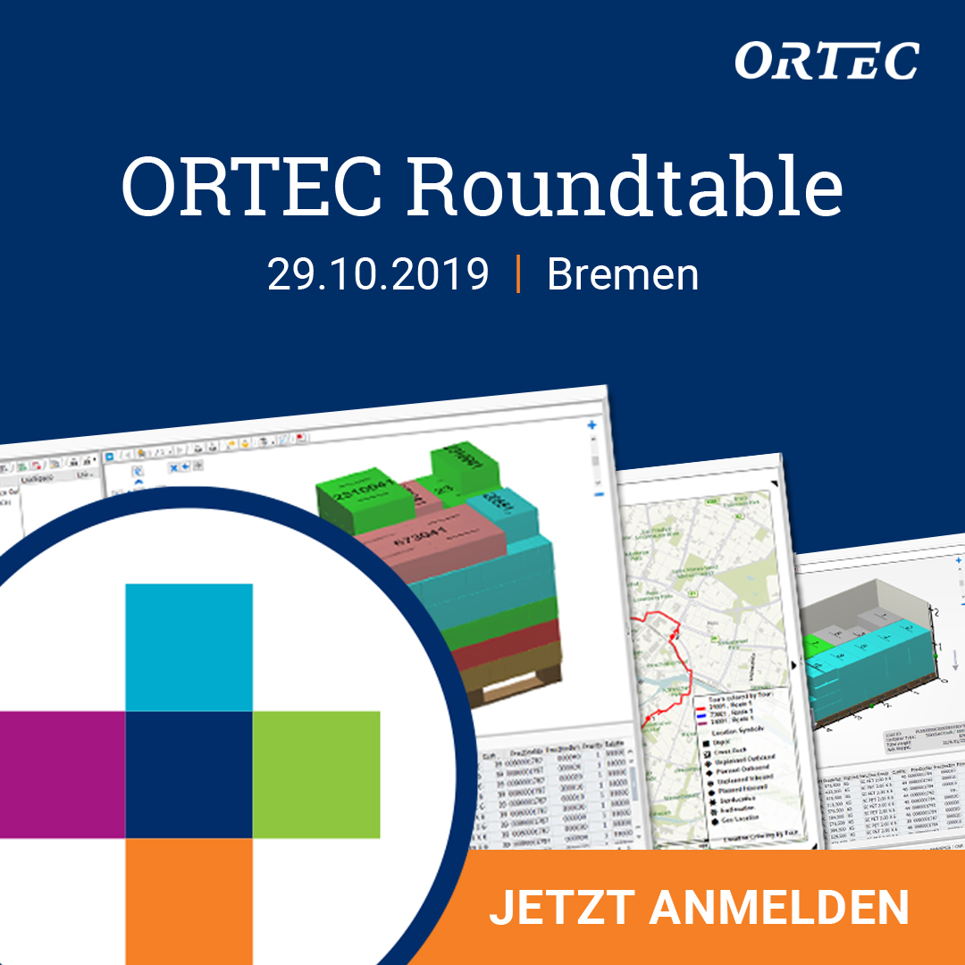 Logistik Konferenz: 2. ORTEC Roundtable – Jetzt anmelden!